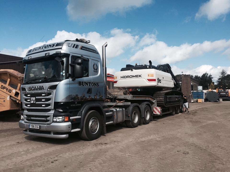 Scania R730 Tractor Unit with Nooteboom Trailer - Bunton