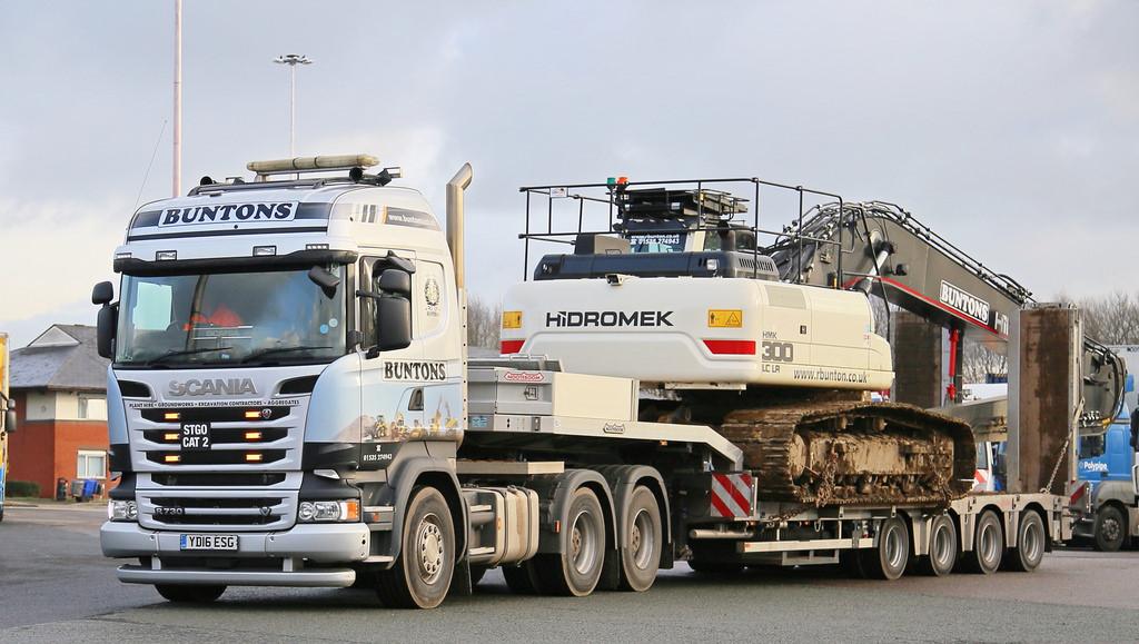 Scania R730 Tractor Unit with Nooteboom Trailer - Bunton Plant Hire